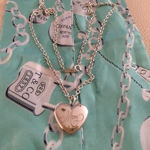 "Tiffany & Co Mom Locket with 18"" chain 925 silver"